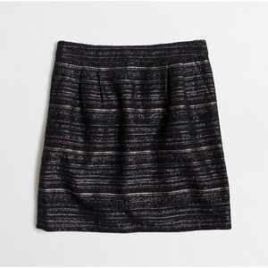 J. Crew Factory Metallic tweed mini skirt